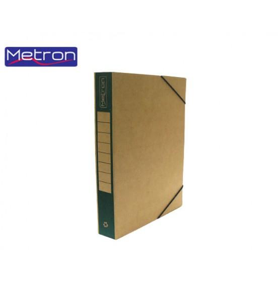 Κουτί Με Λάστιχο Οικολογικό Ράχη Χρωματιστή 25x33x5cm Μetron