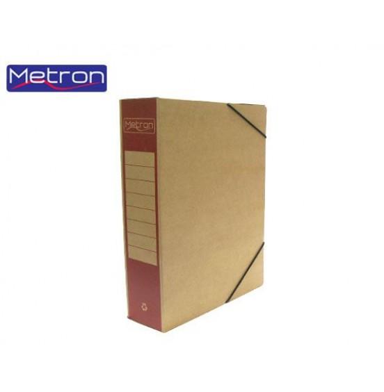 Κουτί Με Λάστιχο Οικολογικό Ράχη Χρωματιστή 25x33x8cm Μetron