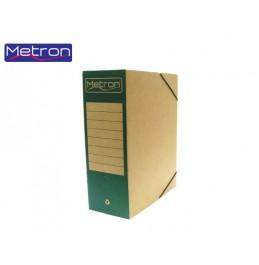 Κουτί Με Λάστιχο Οικολογικό Ράχη Χρωματιστή 25x33x12cm Μetron