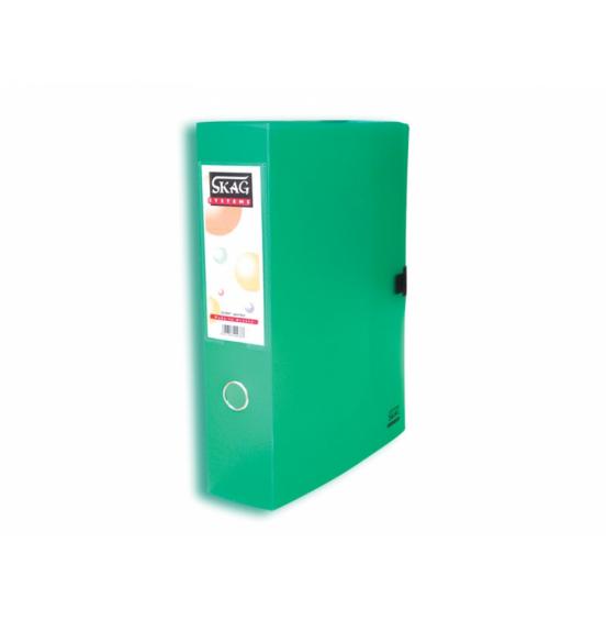 Πλαστικό Κουτί Αρχειοθέτησης Με Κούμπωμα,Ράχη 8cm Skag
