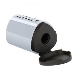 Ξύστρα Βαρελάκι Faber Castell Mini Grip Ασημί