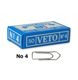 Συνδετήρες Veto No.4 50τμχ