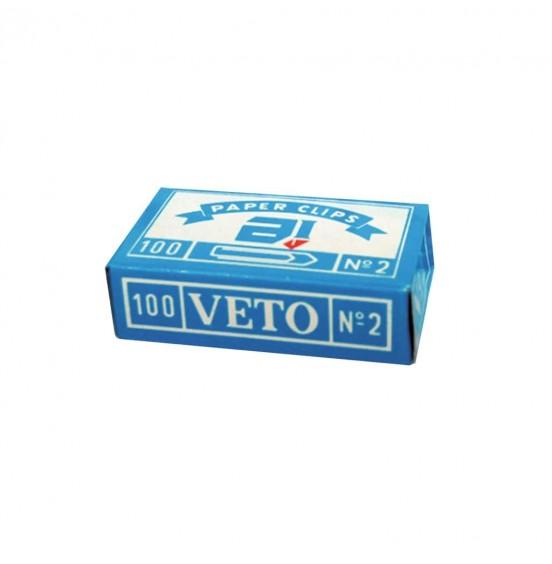 Συνδετήρες Veto No.2 100τμχ