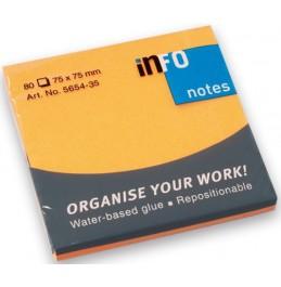 Xαρτάκια Ιnfo 5654-32 Πορτοκαλί Φωσφορούχο  75Χ75mm (80φ)